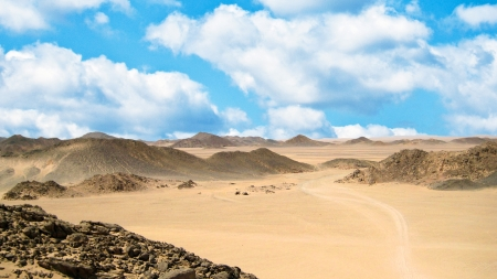 Sand desert and dunes photo