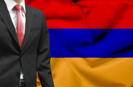 Businessman from Armenia conceptual image photo