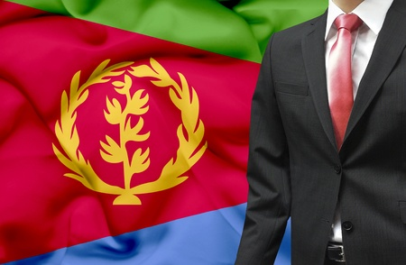 eritrea: Businessman from Eritrea conceptual image