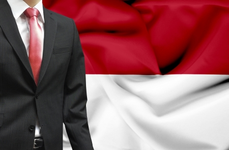 nationalism: Businessman from Indonesia conceptual image