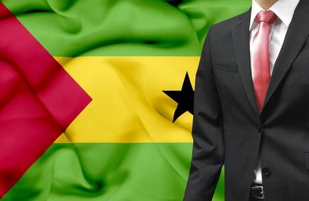 Businessman from Sao Tome and Principe conceptual image Stock Photo - 18945450