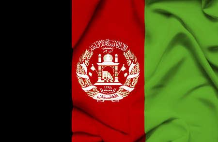 afghanistan': Afghanistan waving flag
