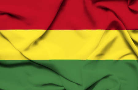 Bolivia waving flag photo