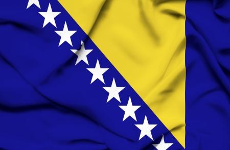 herzegovina: Bosnia and Herzegovina waving flag