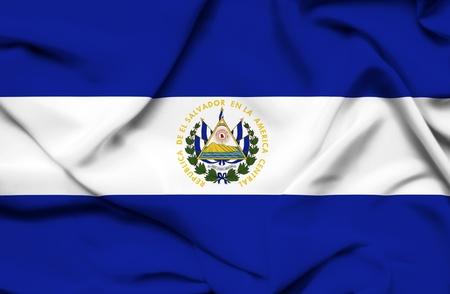el salvador: El Salvador waving flag Stock Photo