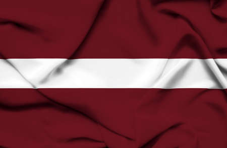 latvia: Latvia waving flag