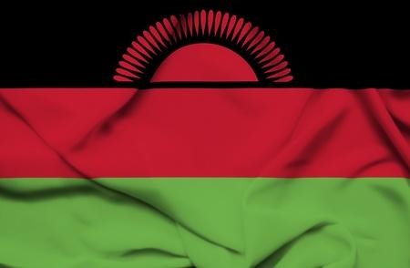 malawi: Malawi waving flag
