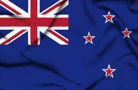 new zealand flag: New Zealand waving flag