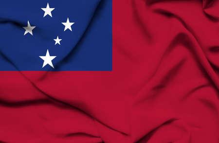 waving flag: Samoa waving flag Stock Photo