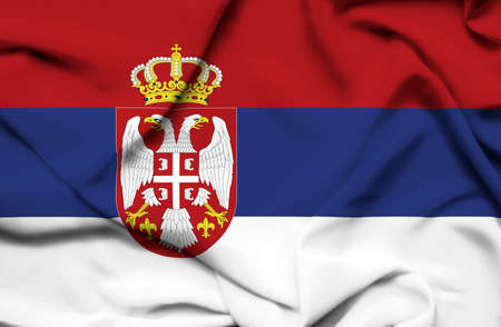Serbia waving flag photo