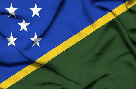 solomon: Solomon islands waving flag