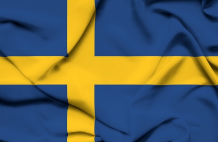Sweden waving flag Stock Photo - 19304931