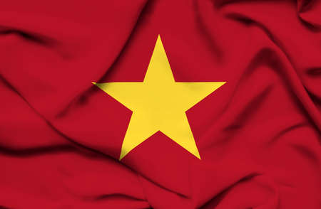 Vietnam waving flag photo