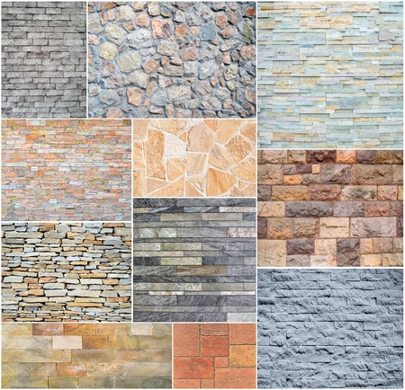 Stone wall collage photo