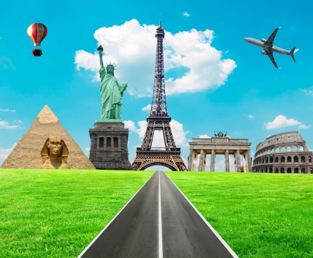 Travel the world concept Stock Photo