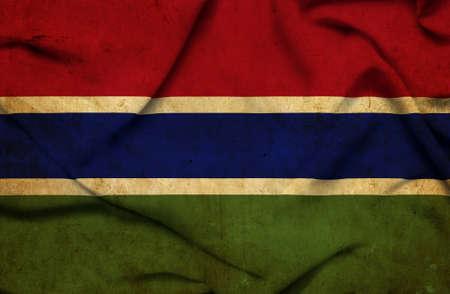 gambia: Gambia waving flag