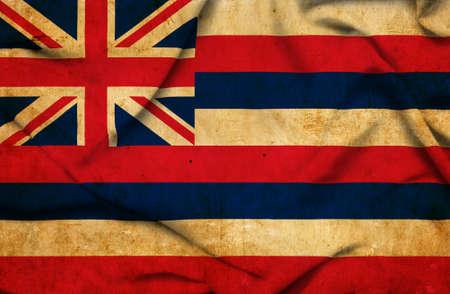 hawaii flag: Hawaii waving flag