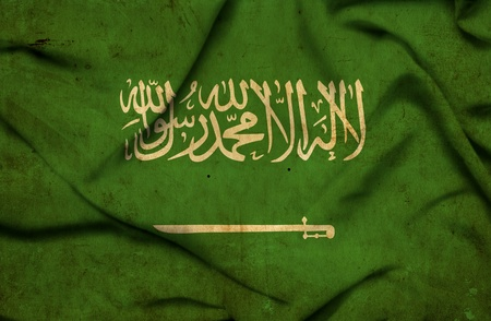 Saudi Arabia waving flag photo