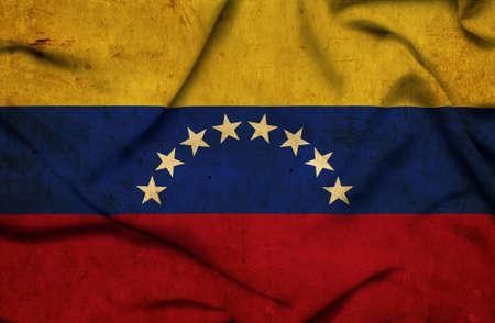 Venezuela waving flag photo