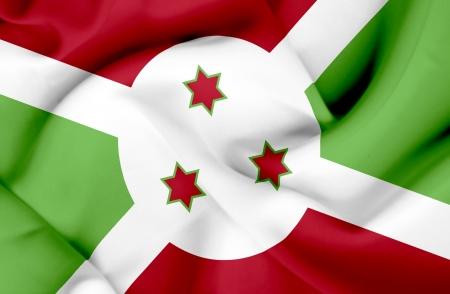 burundi: Burundi waving flag