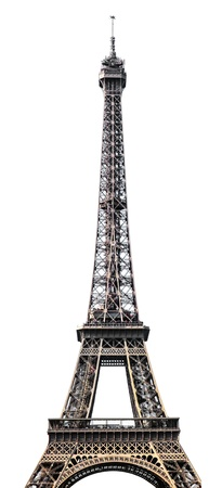eiffel: Eiffel tower isolated on white background