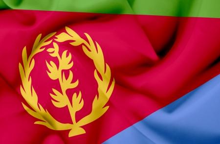 eritrea: Eritrea waving flag Stock Photo