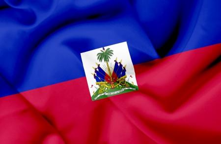 Haiti waving flag photo