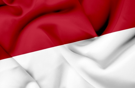 Indonesia waving flag photo