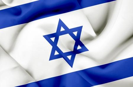 Israel waving flag photo