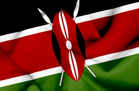 Kenya waving flag photo