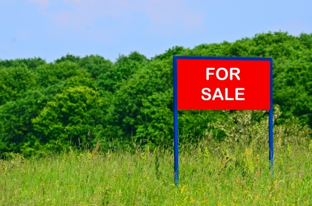 yard sale: Land for sale concept