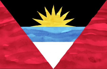 barbuda: Painted flag of Antigua and Barbuda Stock Photo
