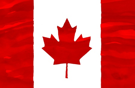 canada flag: Painted flag of Canada Stock Photo