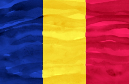 chad: Painted flag of Chad