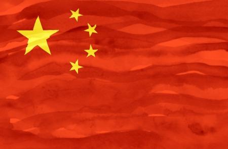 Painted flag of China photo