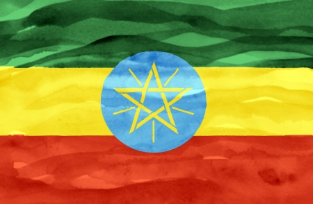 Painted flag of Ethiopia photo