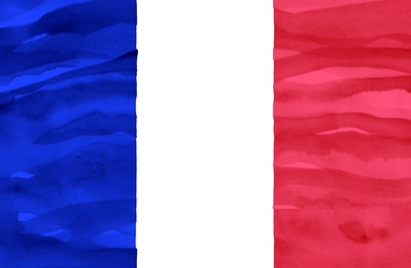 france painted: Painted flag of France Stock Photo