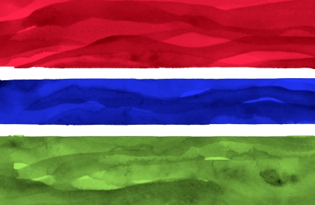 gambia: Painted flag of Gambia