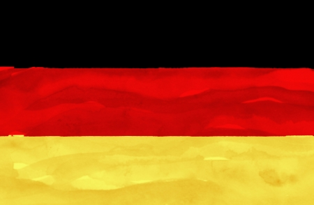 deutchland: Painted flag of Germany