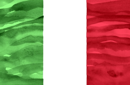 Painted flag of Italy photo