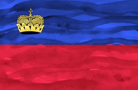lichtenstein: Painted flag of Lichtenstein Stock Photo