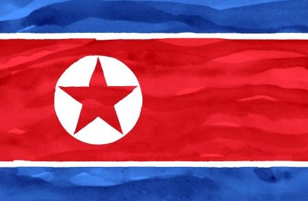Painted flag of North Korea photo