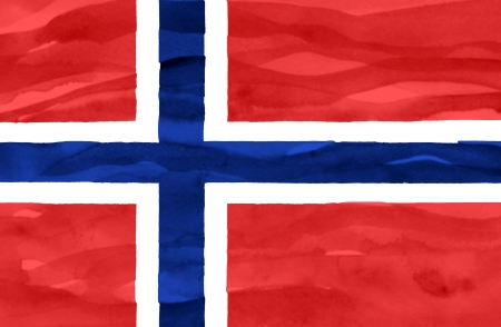 Painted flag of Norway photo