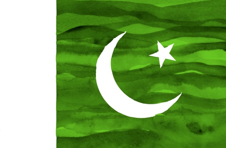 Painted flag of Pakistan photo