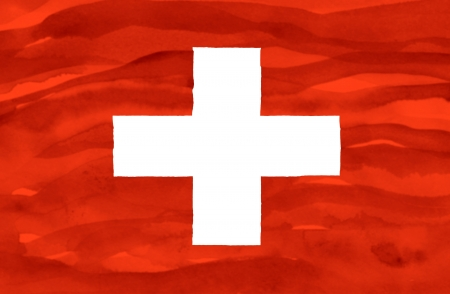 Painted flag of Swiss photo