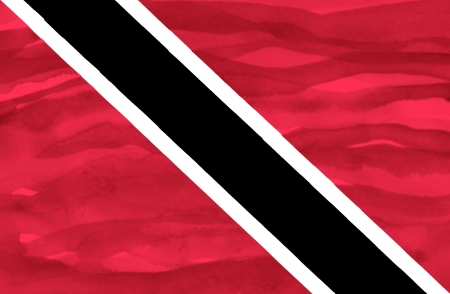 Painted flag of Trinidad and Tobago photo