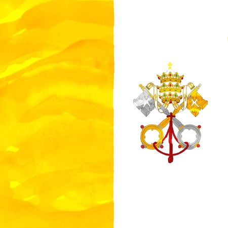Painted flag of Vatican photo