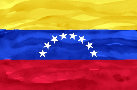 Painted flag of Venezuela photo