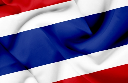 Thailand waving flag photo