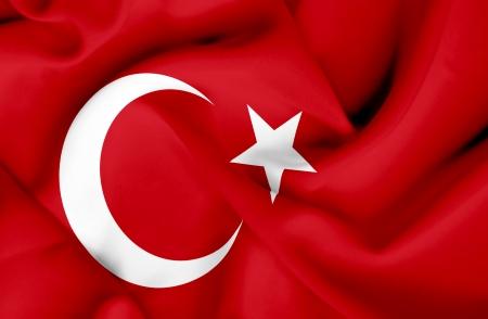 Turkey waving flag photo